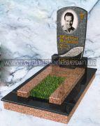Памятник на могилу черная арка серый цветник