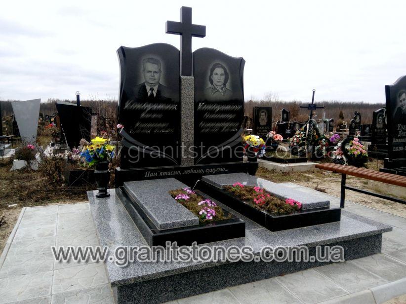 Памятник для двоих красивый с крестом