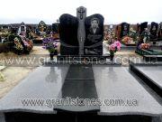 Памятник гранитный двойной с крестом на могилу