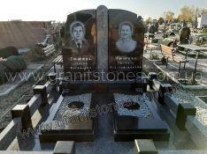 Памятник из гранита двойной черный