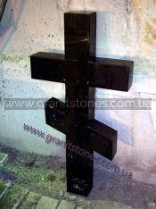 Гранитный крест черный
