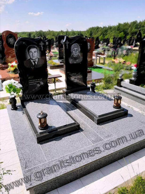 Памятник для двоих с надгробием