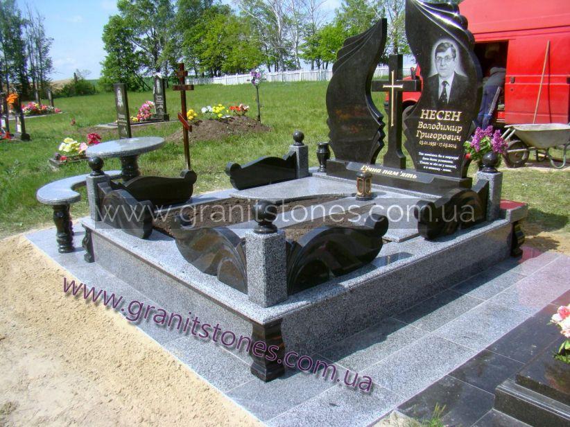 Памятник гранитный двойной элитный