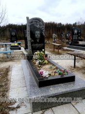 Памятник с постаментом и с резаной березой
