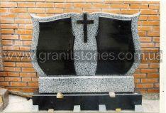 Памятник на двоих из серым камнем