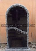 Одинарный памятник серый гранит