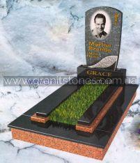 Гранитный памятник на могилу комбинированный