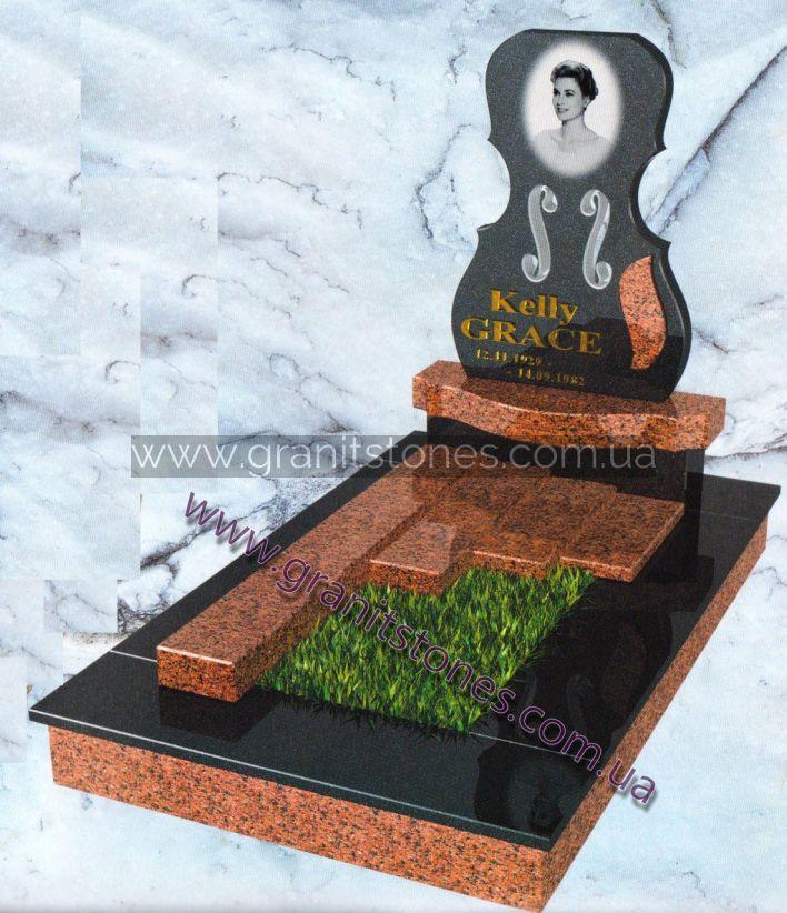 Комбинированный гранитный памятник на могилу