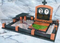 Мемориальный комплекс на могилу со столом и оградой