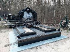Памятник двойной комбинированный из гранита