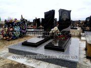 Памятник для двоих с крестом и лантами