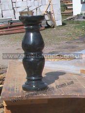Черная гранитная ваза