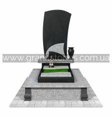 Памятник с волной гранитный комбинированный