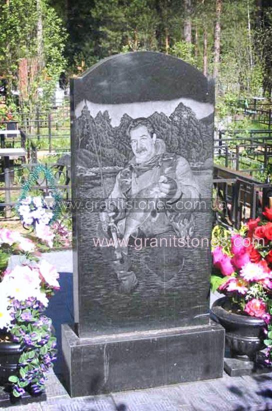Памятник на могилу рыбаку