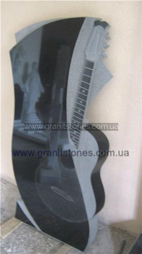 Гранитный памятник в форме гитары