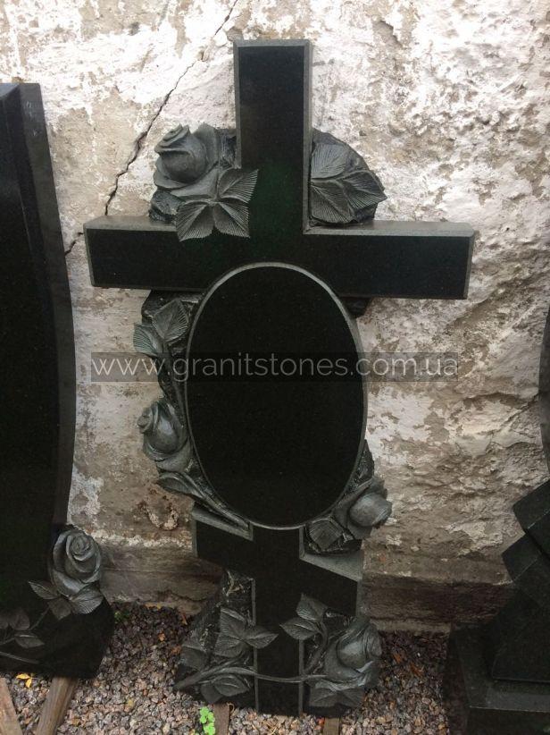 Крест на могилу гранит розы