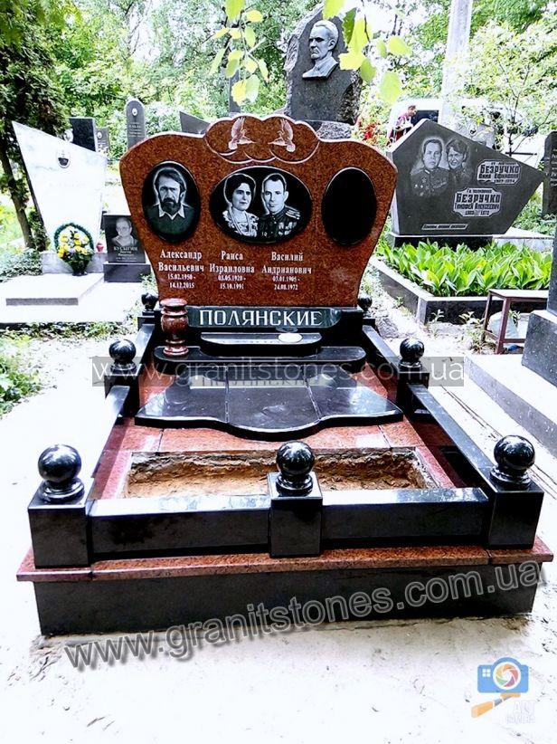 Памятник гранит на могилу красный