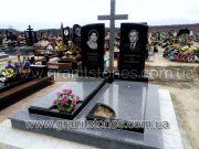 Памятник крест из гранита двойной на могилу