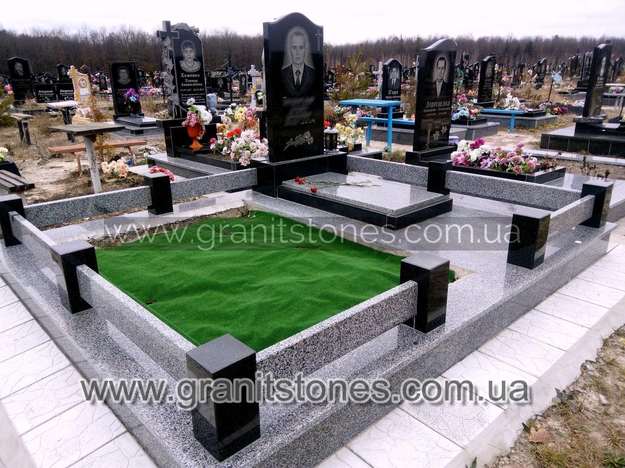 Гранітна огорожа для пам'ятника на могилу